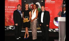 Lara wins best make-up artist  at the NHF Awards