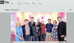 Dafydd Rhys Appears On S4C Heno Programme