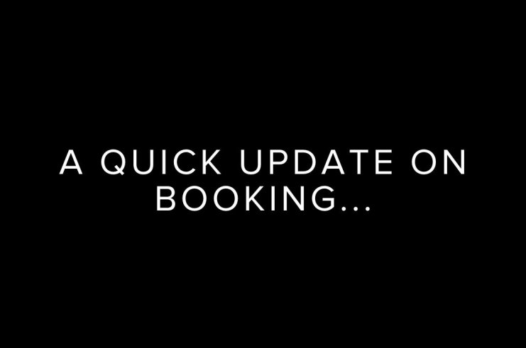 A Quick Reopening Update