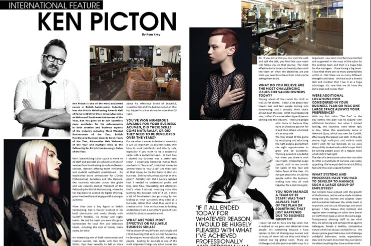 Ken Picton Interviewed in Hair Biz Magazine